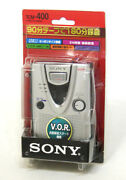 Sony Tcm-400 Silver Cassette Coder Recording Playback Built-in Microphone Japan