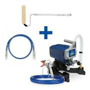 Magnum Project Painter Airless Paint Sprayer 4 Ft Whip Hose Pressure Roller Kit