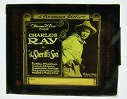Movie Glass Slide- 1919 Charles Ray In The Sheriffand039s Son