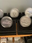 2010 America The Beautiful 5 Ounce Silver Coin Set - 5oz Atb - With Coa And Ogp