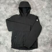 The Menandrsquos Apex Black Softshell Android Hooded Amxw Jacket M