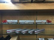 American Flyer S Scale Santa Fe 470 471 473 Aba Loco With Five Passenger Cars
