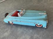 Antique Made In U.s. Zone Germany Wind Up Tin Toy Distler Car Rare 1930's