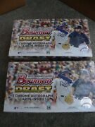 2017 Bowman Draft Hobby Baseball 2 Box Lot - 3 Autographs Per Box - 6 Autos Tot.