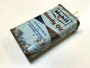 Rare Vintage Socony Mobil Can Tin With Red Pegasus Mobile Handy Oil 4oz 0.118lt