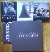 Lot Celebrating Fifty Shades Of Grey Book + Blindfold + 3 Blu-ray Steelbook