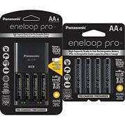 Panasonic Battery Charger With Usb Charging Port And 4aa Eneloop Pro High Cap...