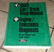 Ford 1982 Car Truck Shop Manual Engine Emissions Diagnosis Book Vehicle Auto