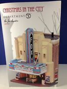Dept 56 Cic Christmas In The City The Fox Theatre 4025242 Brand New Rare