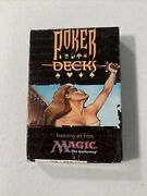 Wotc Magic The Gathering Poker Playing Card Decks Missing 2 Jokers Rare