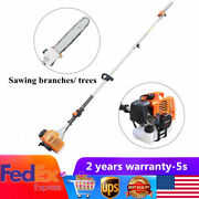 52cc Gas Pole Saw Chainsaw Tree Branches Trimming Pruner Trimmer 2-stroke New Us