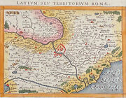 Ptolemy - Map Of Rome, Italy. 81, 1621 Original Hand-colored Engraving
