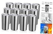 Oz Tumbler With Lid Insulated Coffee Travel Mug, Skinny 12 Stainless Steel