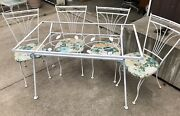 Outdoor Dining Set By Homecrest Table Four Chairs Original Seats Midcentury