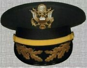 Replica Us Army Field Grade Officer Service Dress Greens Wool Hat Cap All Sizes