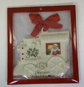 Holiday Train Cookie Press By Lenox Porcelain Ornament 5 1/2x 5