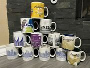 Lot 12 Starbucks You Are Here Coffee Mug Cup Collection Us States And Cities New