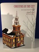 Dept 56 Cic Christmas In The City St. Paul's Chapel Church 4020173 New And Rare