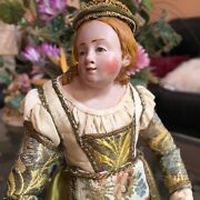 Extraordinary Neapolitan Figure Antique Doll Girl With Provenance Mid 1700s