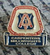 Millwright College Ubc Carpenters And Joiners Brotherhood Ubc Union Labor Pin Old