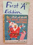 Little Golden Book 1st First A Edition The Night Before Christmas Clement Moore