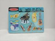 Melissa And Doug Musical Instruments Wooden Sound Puzzle