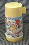1971 Flintstones Adult Pebbles And Bamm Bamm Thermos For Lunchbox Yellow Cup/lid
