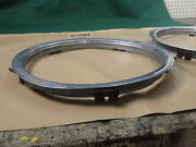 Pair 1960s Chevy/ford/amc Rally Wheel Stainless Trim Rings 15 Wheels