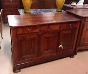 Antique French Louis Philippe Period Fruitwood Sideboard 3 Door Chest Cabinet