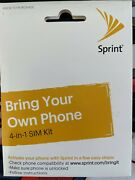 New Sprint Byod 4-in-1 Sim Card Kit For Cdma Cell Phones - Kit A, B, C, And D