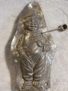 Antique Anton Reiche Chocolate Mold Of The Clown Pierrot With Heart