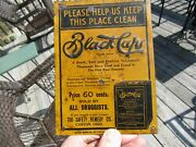 Original 1920and039s Black Caps Gonorrhoea Tin Tacker Sign Safety Remedy Co.canton Oh