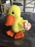 Ty Beanie Babies Original Quackers The Duck Mint Condition