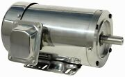 5 Hp Stainless Steel Electric Motor 184tc With Base 3 Phase 1800 Rpm Washdown
