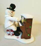 Hallmark Jingle Pals Snowman Playing Piano Singing Light Up Musical As Is