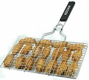 Portable Stainless Steel Bbq Barbecue Grilling Basket For Fish Vegetables Steak