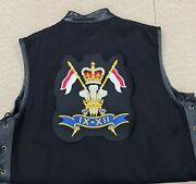 9th / 12th Royal Lancers Embroidered Denim And Leather Sleeveless Summer Vest
