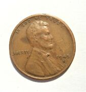 1945 S Us Lincoln Memorial Cent Penny Coin