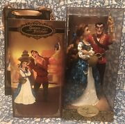 New Disney Store Belle And Gaston Doll Limited Le Fairytale Designer Collection