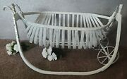 Wonderful Antique 1890and039s Baby Field Cradle
