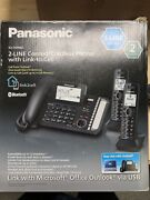 Panasonic Kx-tg9582b 2 Line Corded/cordless Telephone System With Two Handsets
