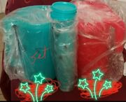 2 Tupperware 1 Gallon Pitcher With 4 160z Cups With Lids