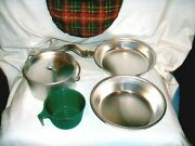 426 - Official Girl Scouts Of America Mess Kit With Pouch - Camping Hiking
