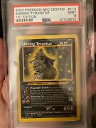 Psa 9 - Pokemon Shining Tyranitar 1st Edition - Neo Destiny 113/105 Secret Rare