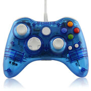 Xbox 360 Wired Led Blue Controller Pad New Hexir Wired Glow Gamepad Pc Usb