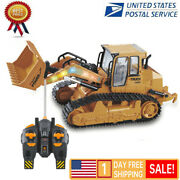 112 Rc Excavator Shovel Remote Control Construction Bulldozer Truck Toy Light
