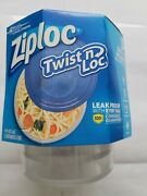 Ziploc Twist And039n Loc Pk Of 3 Small Round Containers For Food Dishwasher Safe