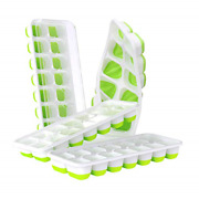 Doqaus Ice Cube Trays 4 Pack Easy-release Silicone And Flexible 14-ice Cube Trays