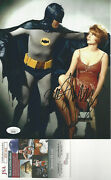 Batman With Jill St. John Autographed 8x10 Photo With Batman Adam West Jsa Cert