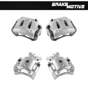 Front+rear Brake Calipers For 2005 2006 2007 2008 2009 2010 - 2014 Mustang Gt